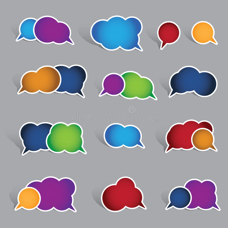 Collection of blank speech bubble labels royalty free stock image