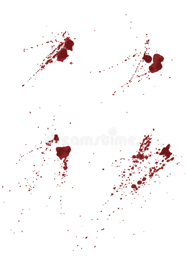 Download Collection Of Blood Or Paint Splatters Stock Vector - Illustration of spotted, murder: 12029674