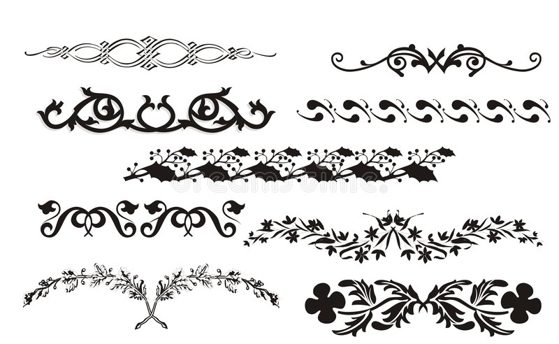 Download Collection Of Border And Corner Design Stock Photo - Image: 8375760