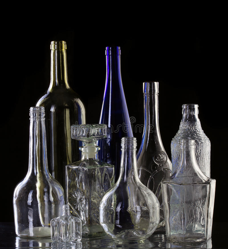 Collection bottles royalty free stock photography
