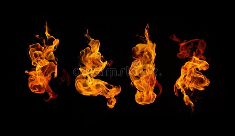 Collection brûlante du feu images stock