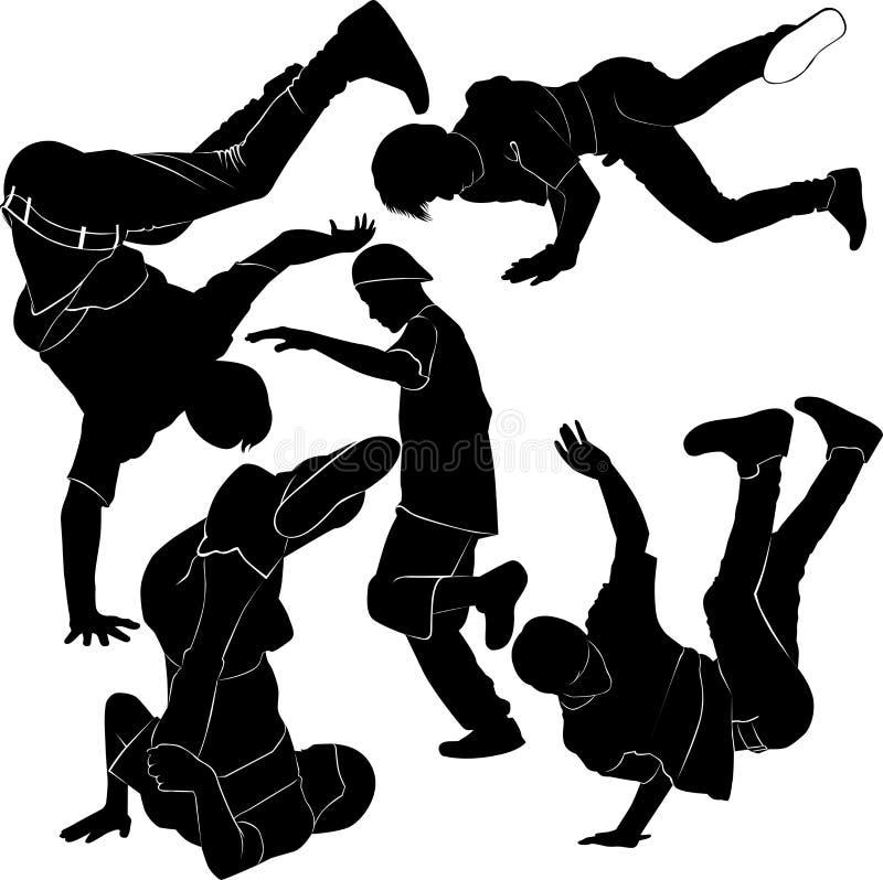 Collection breakdance stock illustration