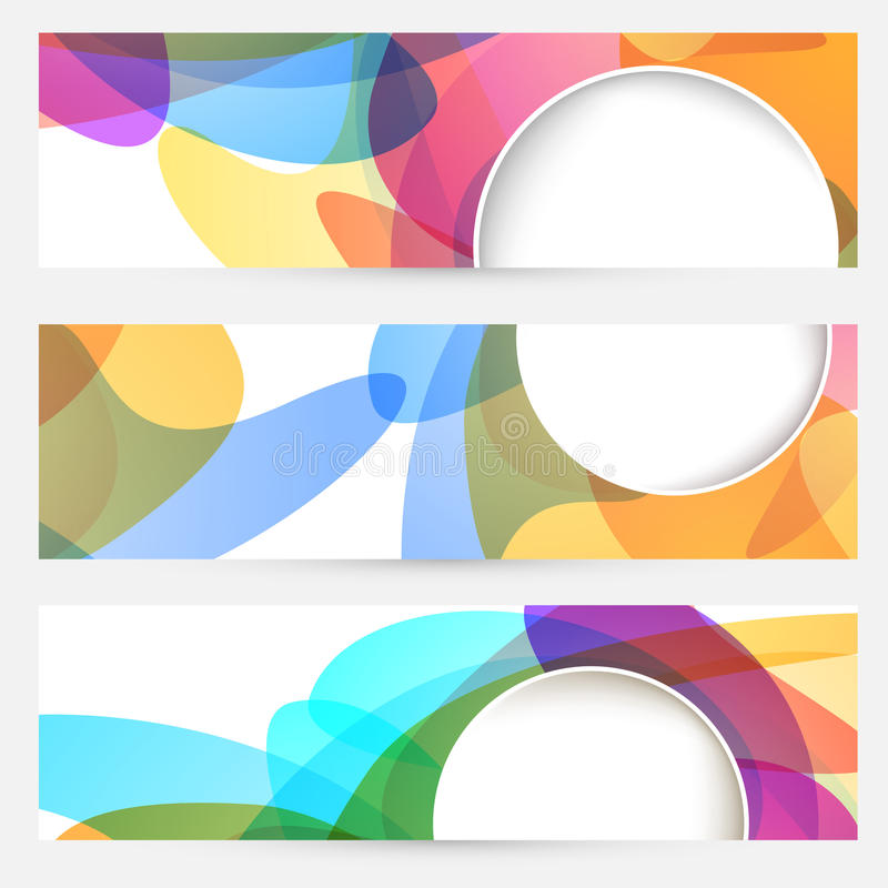Download Collection Of Bright Abstract Design Cards Stock Vector - Image: 41467190