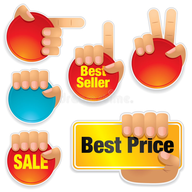 Download Collection Of Bright Buttons Stock Vector - Image: 8825198
