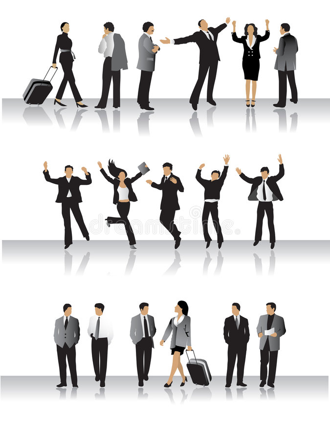 Download Collection Of Business Peoples Stock Vector - Image: 4852858