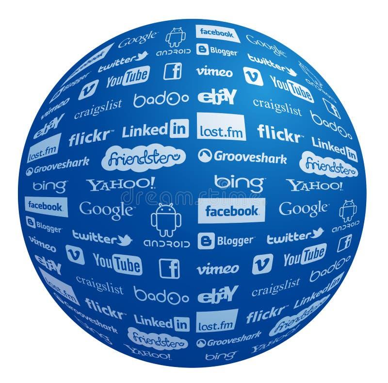 Collection célèbre de logo en globe illustration de vecteur