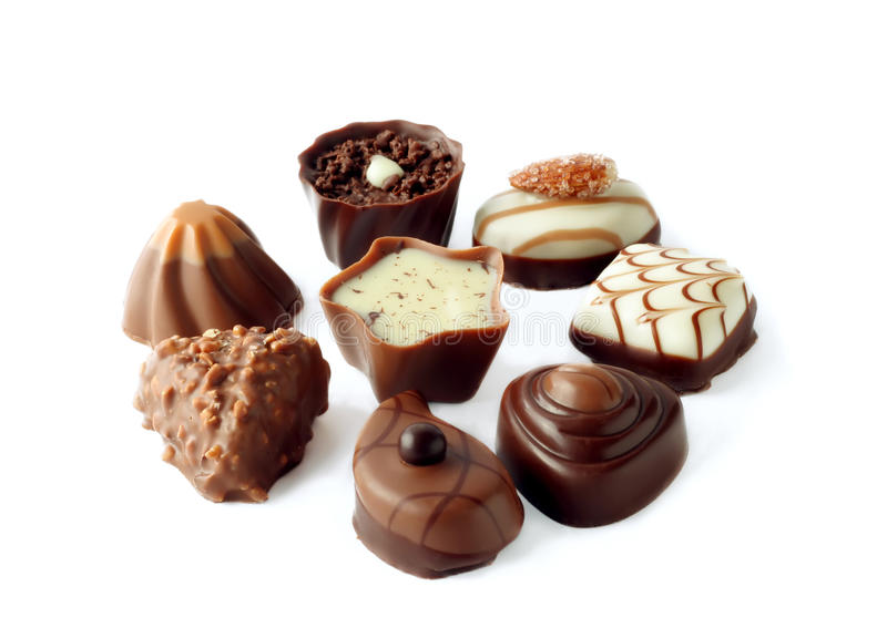 Collection of candies stock photo