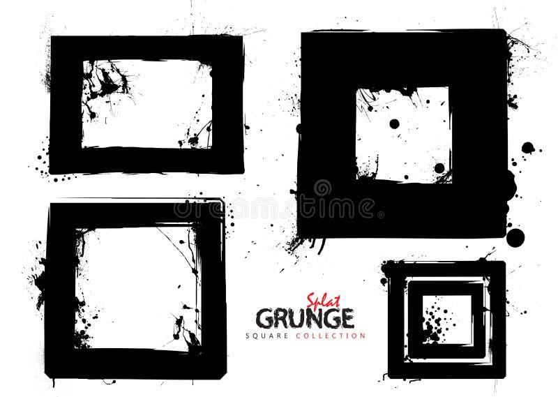 Collection carrée grunge illustration libre de droits