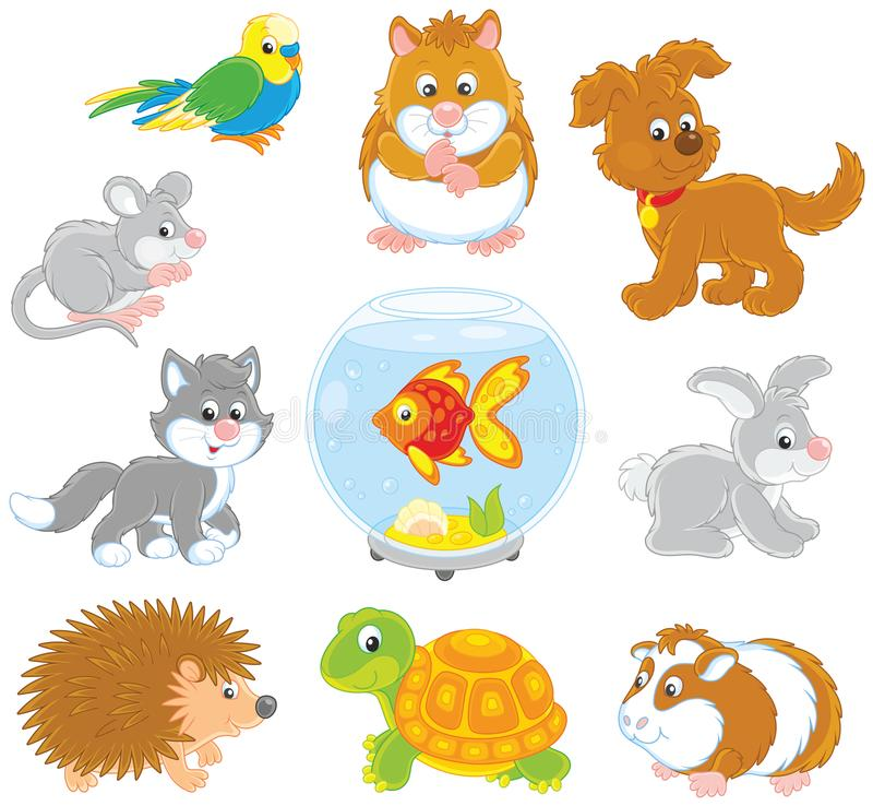 Set of pets royalty free illustration