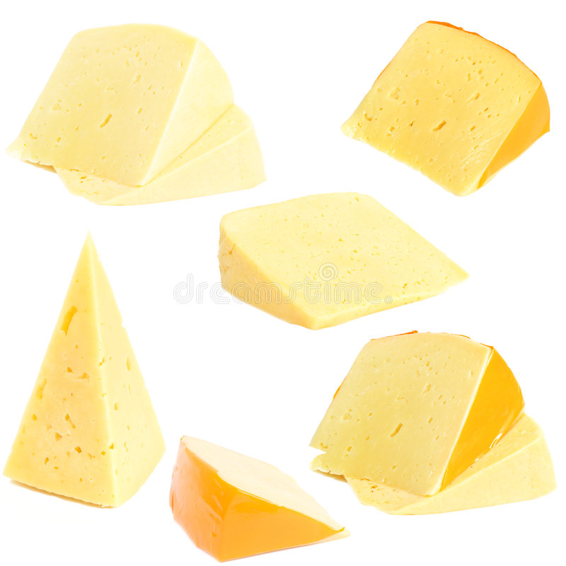 Collection of cheese royalty free stock images