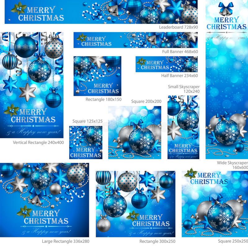 Download Collection of Christmas stock vector. Image of card, banner - 22316512