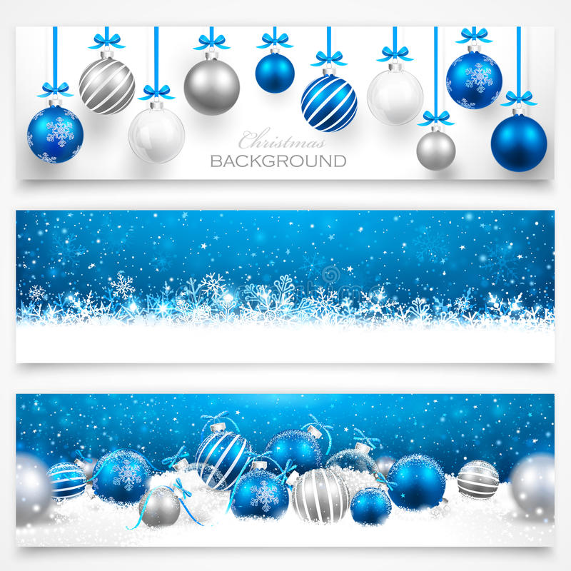 Collection of Christmas banners. With shadow on a light background. Vector illustration