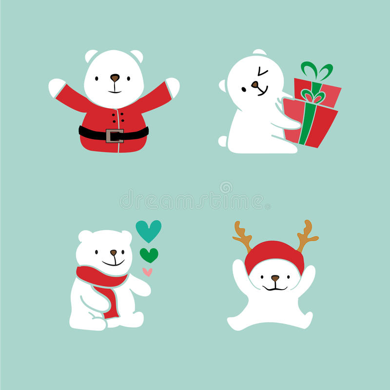 Collection of Christmas Bare stock illustration