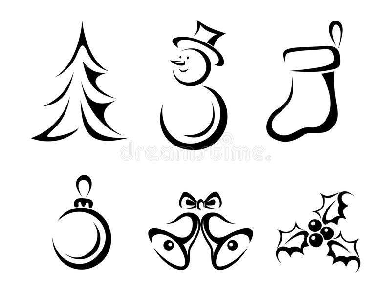 Collection of christmas elements stock vector image