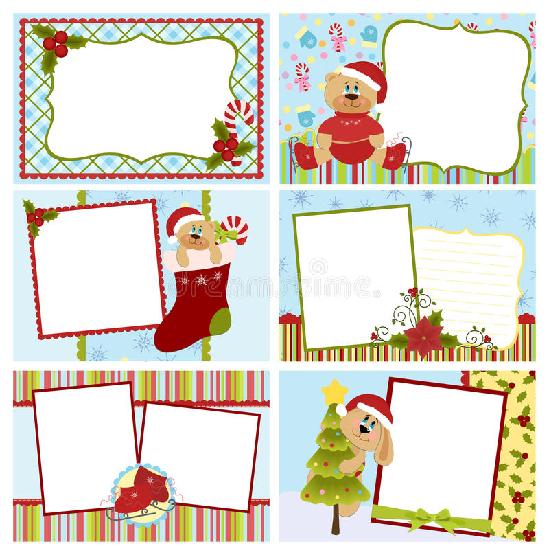 Download Collection Of Christmas Greetings Cards Stock Vector - Image: 16862678