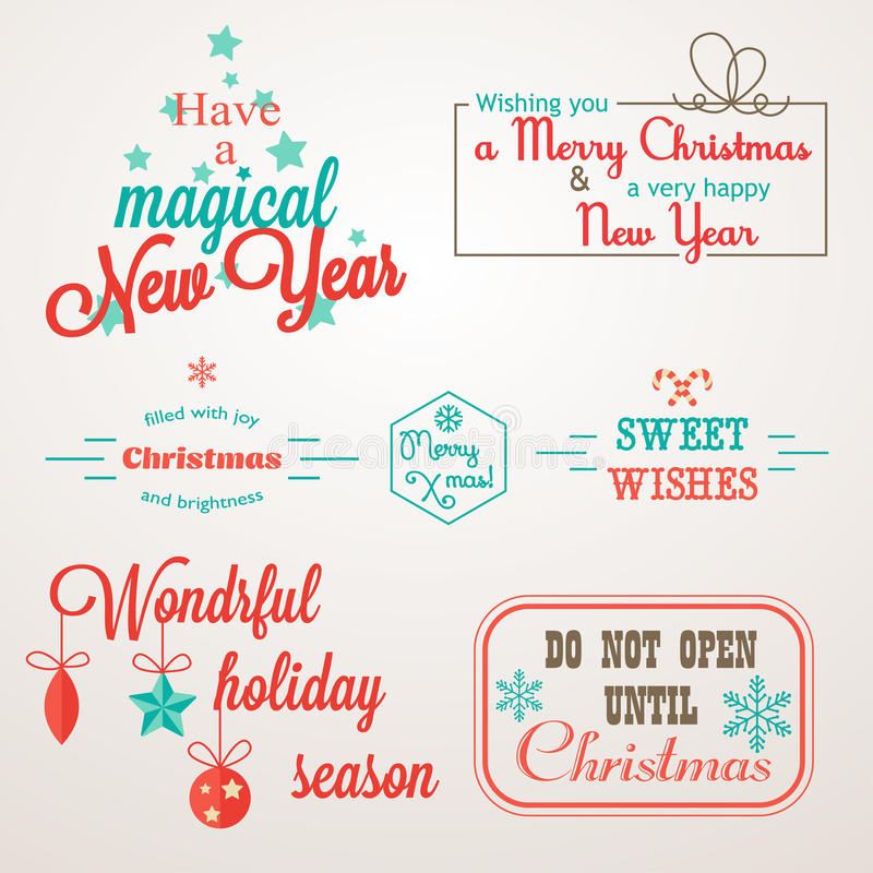Collection of christmas and new year greeting phrases and elements collection of christmas and new year greeting phrases and elements perfect for bages labels holiday invitations and greeting cards m4hsunfo