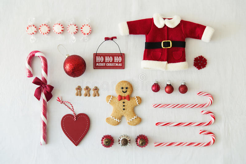 Collection of Christmas objects royalty free stock images