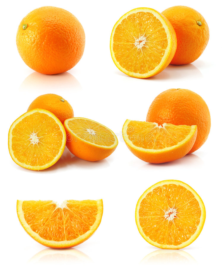 Free Collection Citrus Orange Fruit Isolated On White Royalty Free Stock Images - 6823179