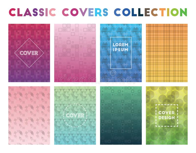 Collection classique de couvertures illustration stock