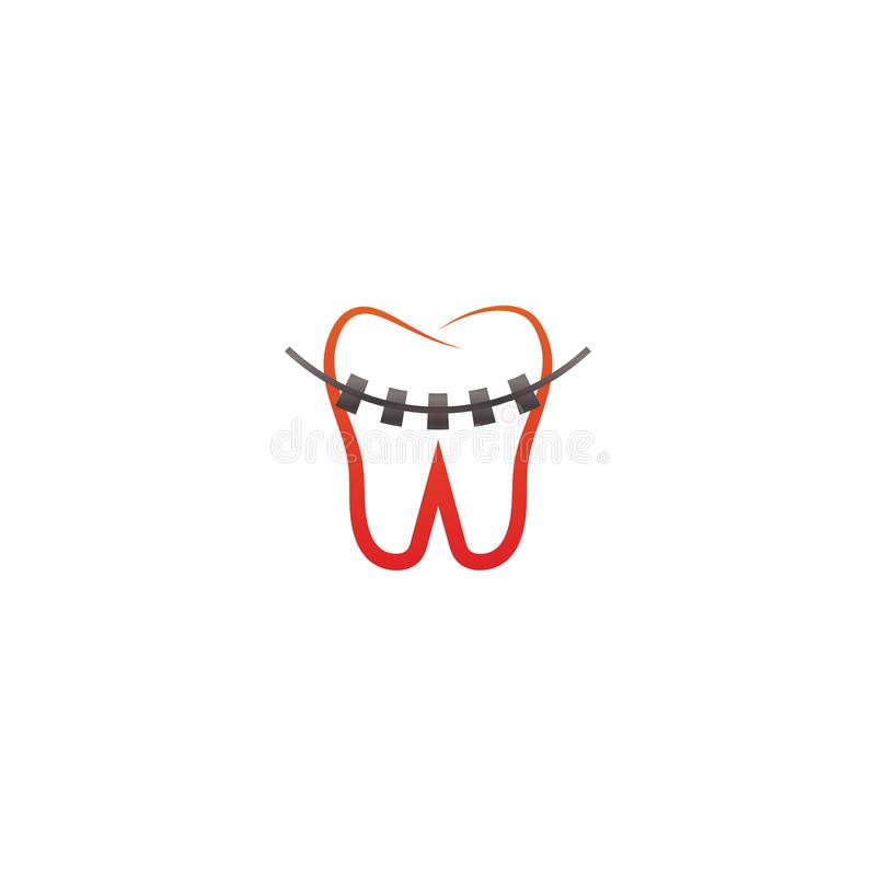 Collection of clean dental tooth logo design template royalty free illustration