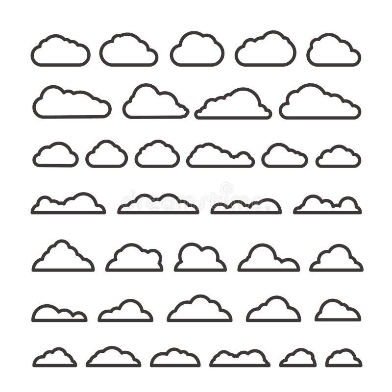 Collection clous de vecteur d'abrégé sur différent silhouette illustration de vecteur