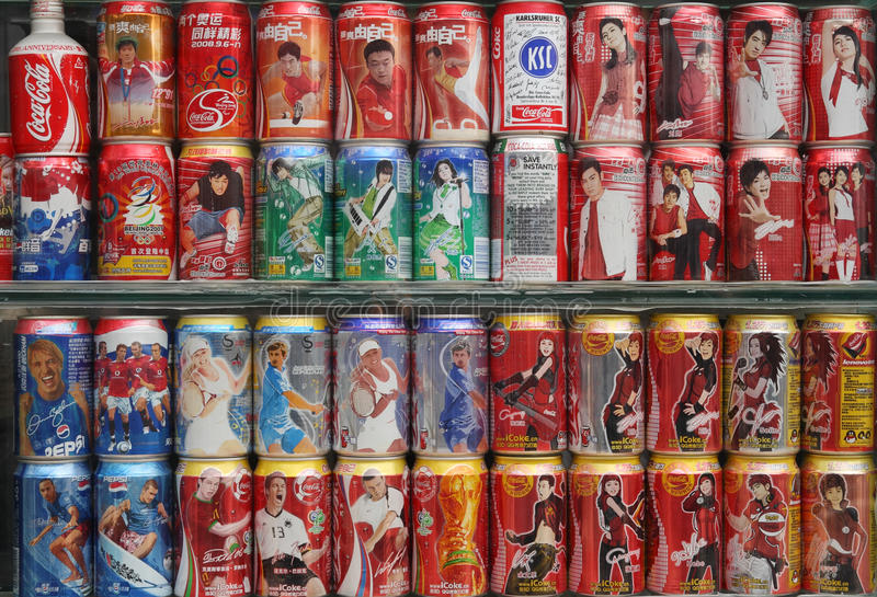 Download Collection Of Coke Pop Cans Editorial Image - Image: 13994905