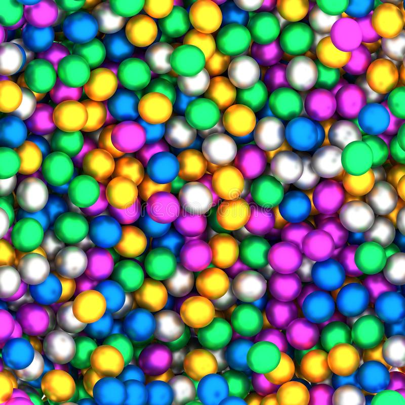 Collection colorée abstraite de sphères illustration stock