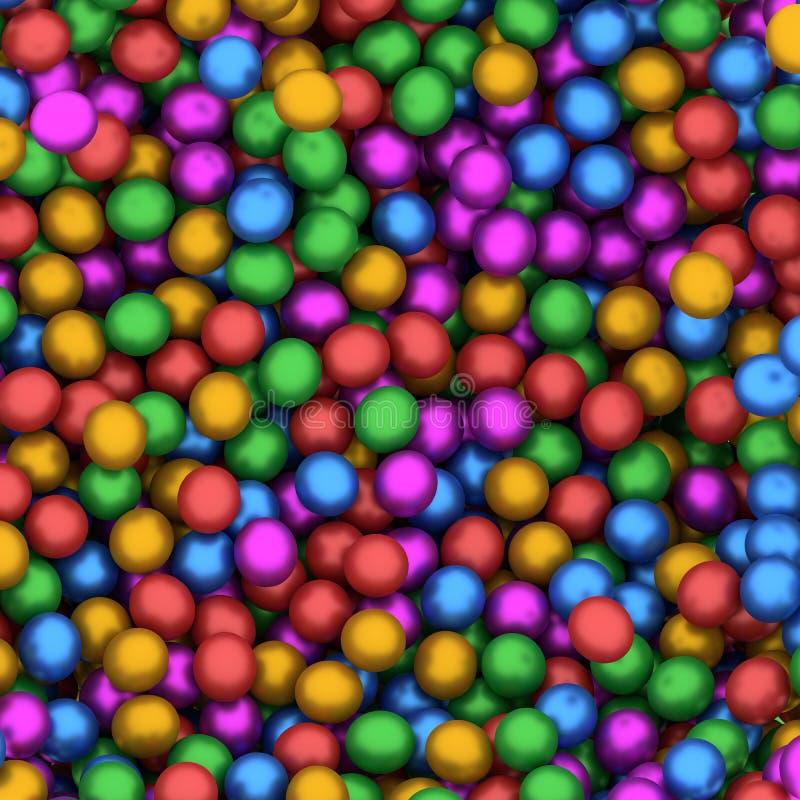 Collection colorée abstraite de sphères illustration de vecteur