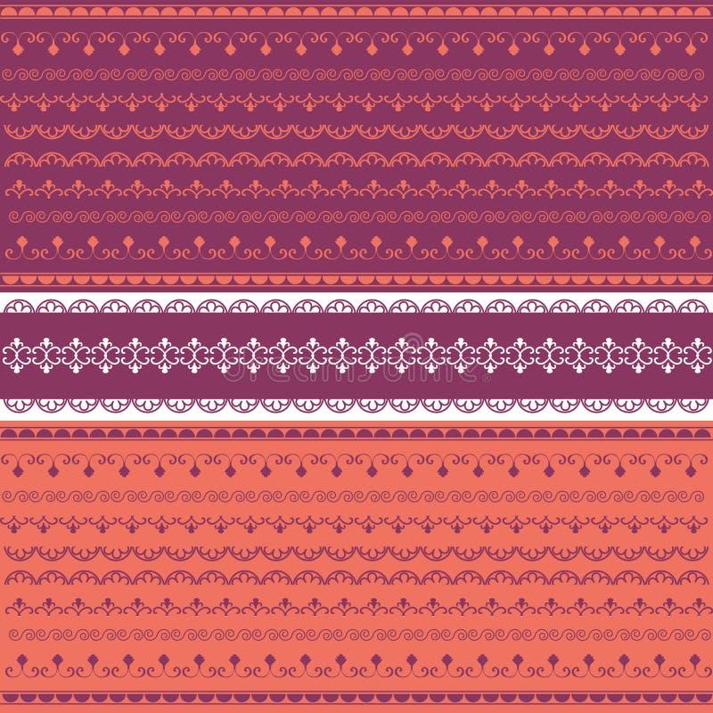 Collection colorée de lacet illustration de vecteur