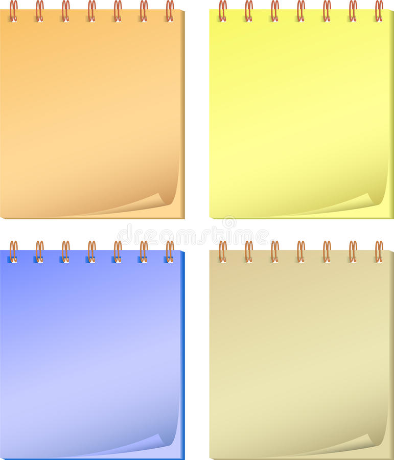 Free Collection Color Notepads. Royalty Free Stock Photos - 17165878