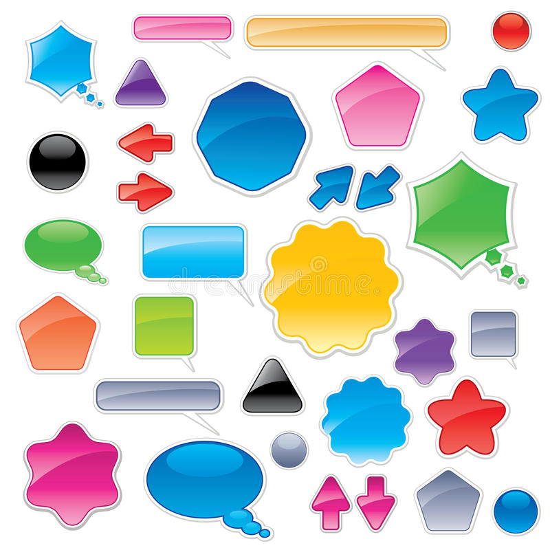 Download Collection Of Color Web Elements Stock Vector - Illustration of color, navigation: 15125316