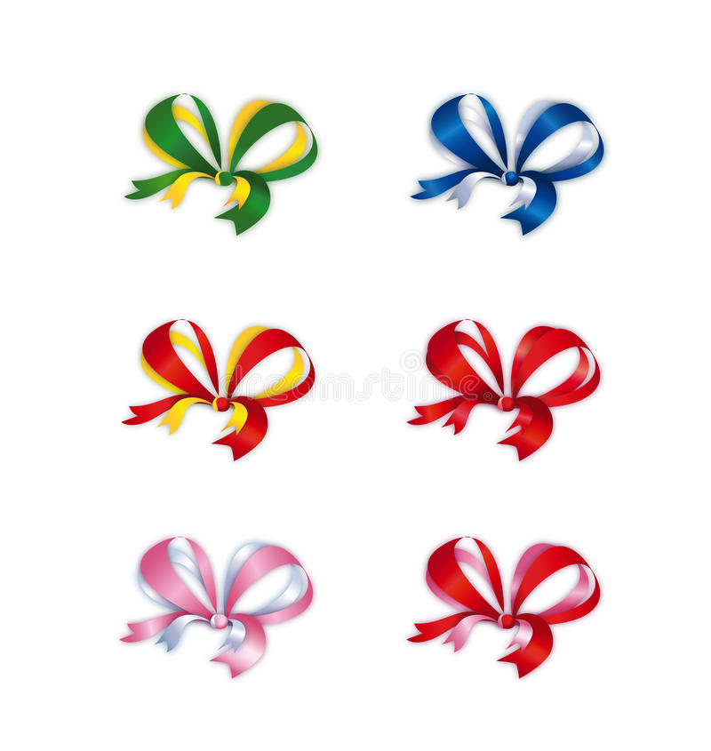 Download Collection Of Colored Double Bows Stock Illustration - Image: 28785932