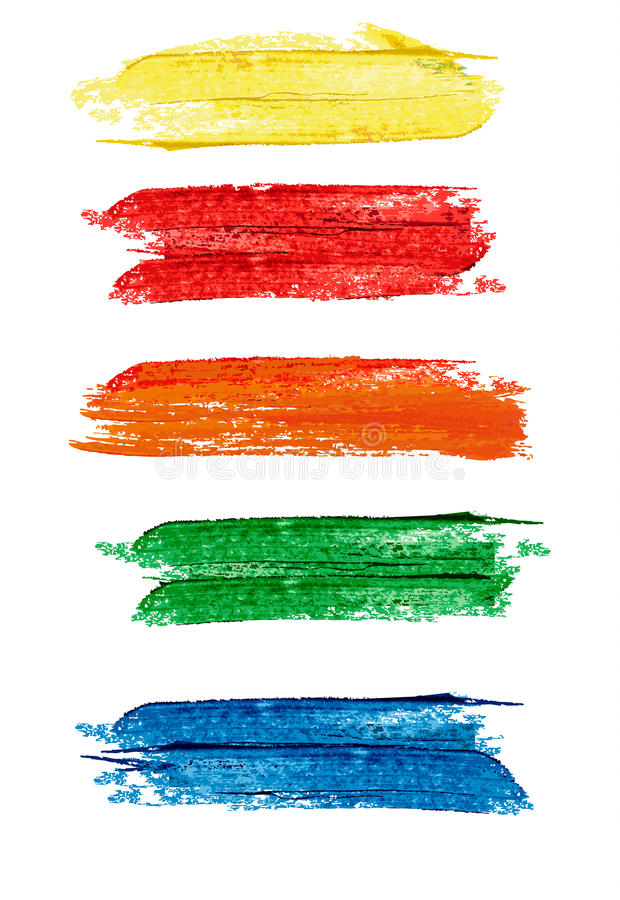 Collection Of Colorful Abstract Watercolor Banners/speech Bubble Stock Vector