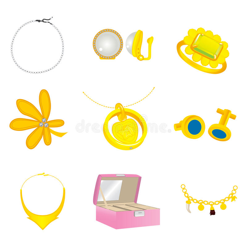 Collection Colorful Accesories stock illustration