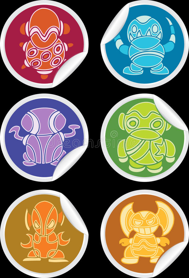Download Collection Of Colorful Aliens Stock Vector - Illustration of character, vector: 9488704