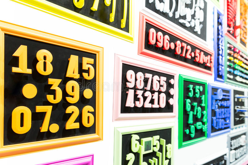 Download Collection Of Colorful Numbers Stock Illustration - Image: 42311183