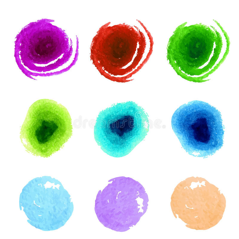 Collection of colorful paint swatches. Abstract vector illustration