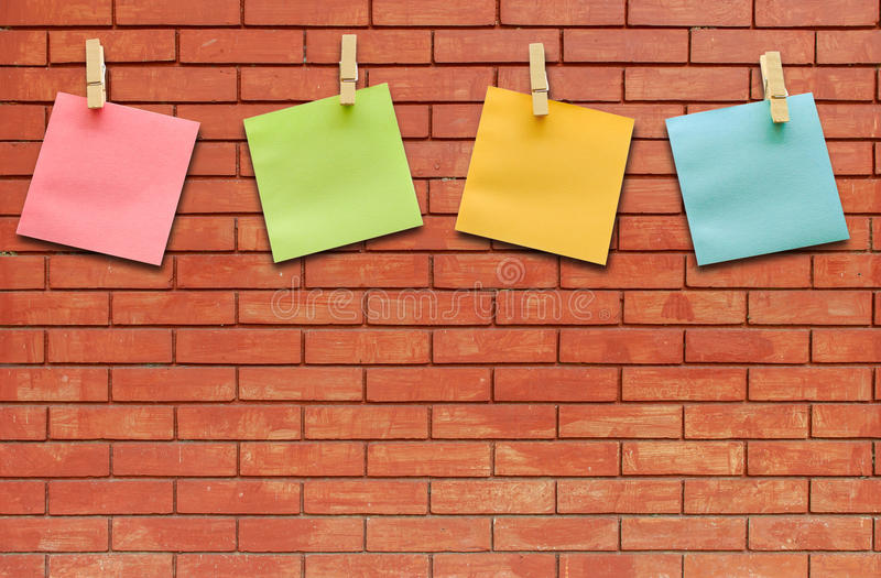 collection of colorful post it paper note stock photography