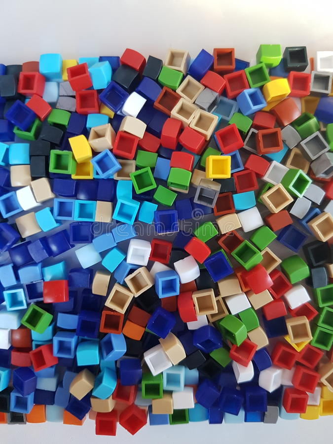 Collection of colourful pixels stock images