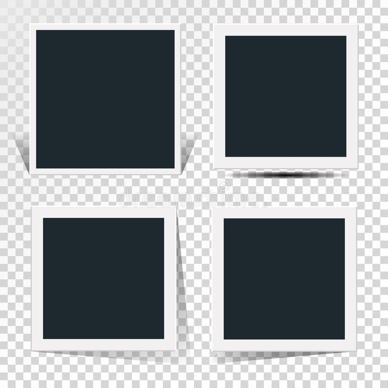 Collection of the concept of rotation of the retro photo frame. Collection of the concept of rotation of the retro photo frame royalty free illustration