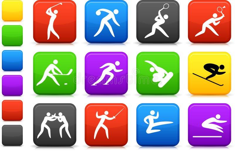 Collection concurrentielle et olympique de graphisme de sports illustration libre de droits