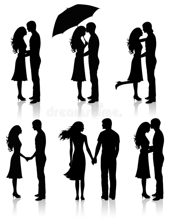 Collection of couples. vector illustration