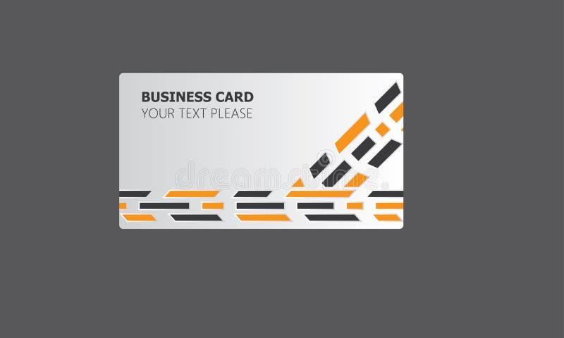 Collection cr?ative de calibres de cartes de visite professionnelle de visite de soci?t? avec le logo illustration stock
