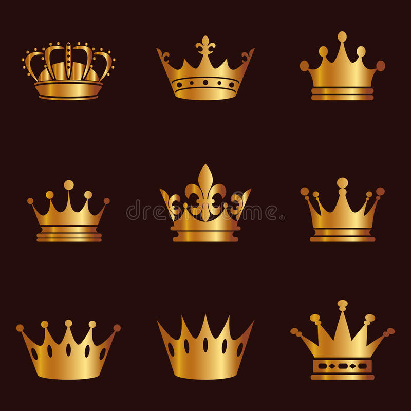 collection of crown silhouette monarchy authority and