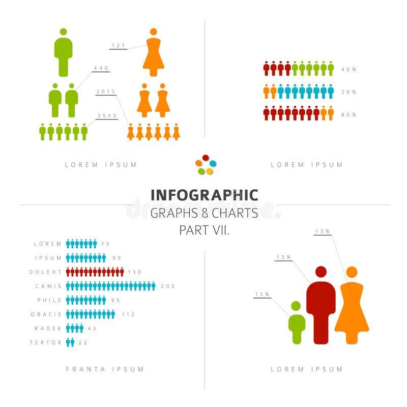 Collection d'éléments de personnes d'Infographic illustration de vecteur
