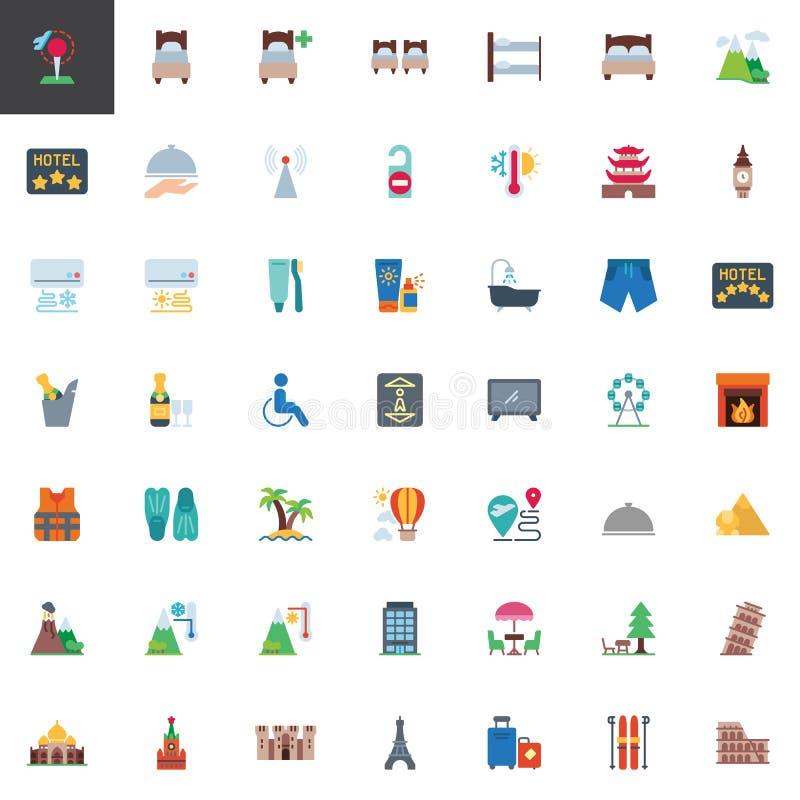 Collection d'éléments de voyage et de vacances illustration stock