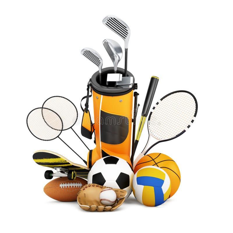 Collection d'équipement de sport images libres de droits