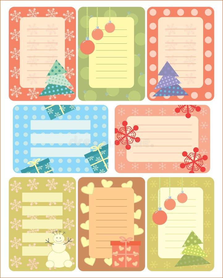 Collection d'étiquettes de Noël pour scrapbooking illustration de vecteur