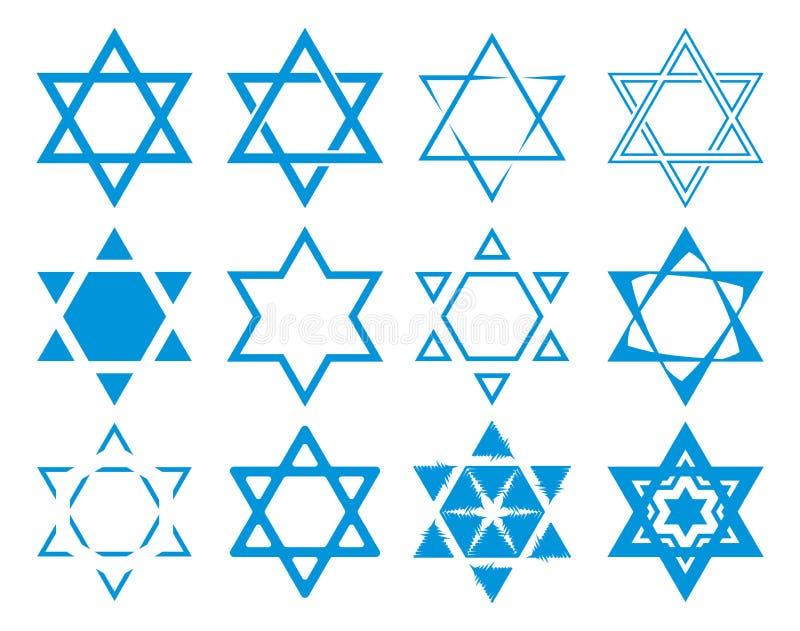Collection d'étoile de David illustration libre de droits