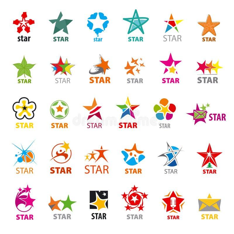 Collection d'étoiles de logos de vecteur illustration libre de droits